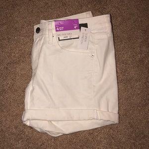 Mid rise midi shorts